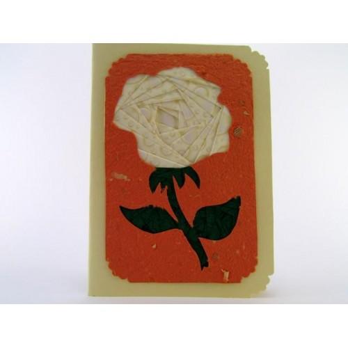 Unikatna voščilnica vrtnica